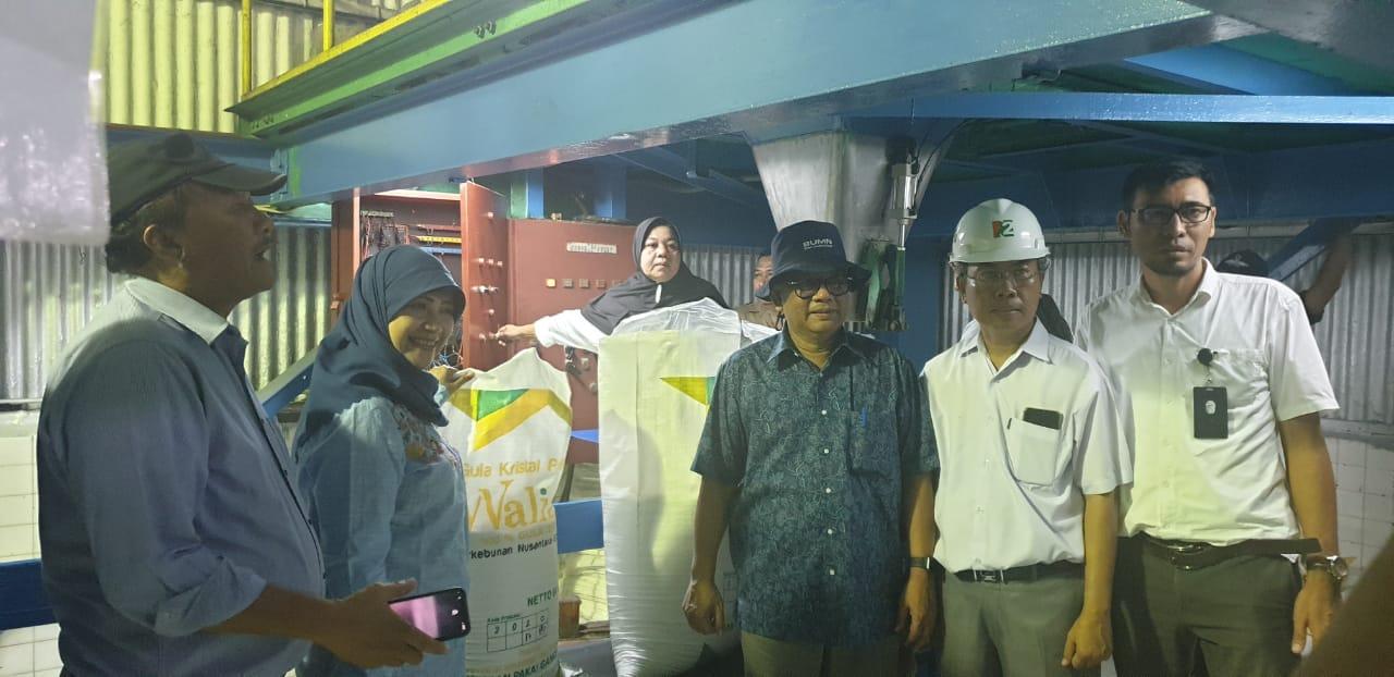 Ket poto : Direktur Operasional Marisi Butar-Butar, Direktur Holding Abdul Ghani, Manager PGSS Anan, dan Kabag Tehnik Dedi Gurning diabadikan bersama di Pabrik Gula Sei Semayang, Sabtu (14/3/2020).Zahendra